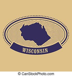 Wisconsin map silhouette
