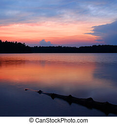 wisconsin, northwoods, coucher soleil