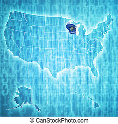 wisconsin on map of usa
