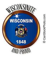 Wisconsin Proud Flag Button