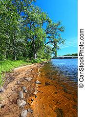 Wisconsin River Landscape Portage