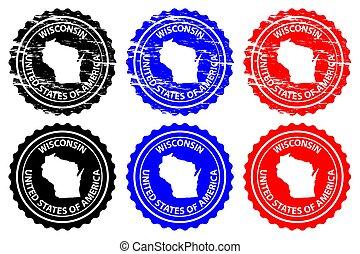 Wisconsin - rubber stamp