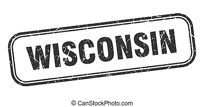 Wisconsin stamp. Wisconsin black grunge isolated sign