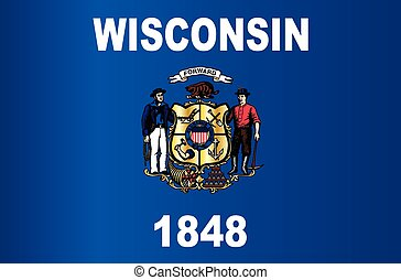 Wisconsin State Flag - The state flag of the USA state of...