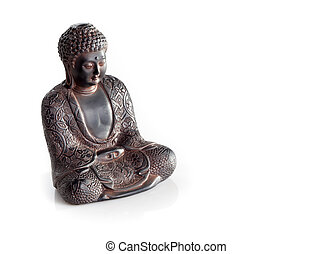 wisdom buddha isolated on a white background