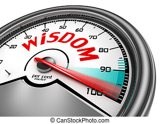 Wisdom level hundred per cent conceptual meter