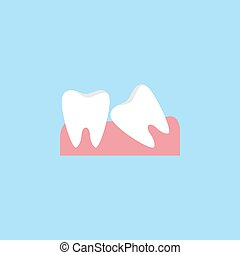 Wisdom teeth flat icon - Wisdom teeth flat icon, Dental and...