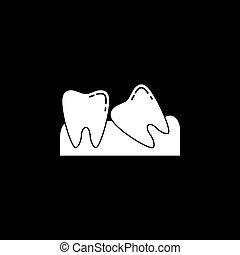 Wisdom teeth solid icon - Wisdom teeth solid icon, Dental...