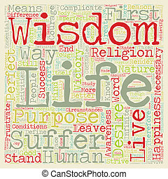 Wisdom text background wordcloud concept