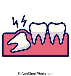 Wisdom tooth Line Color