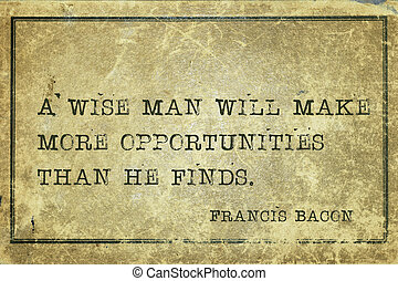 wise man Bacon