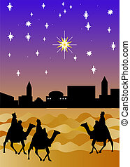 Wise men - The three wise men arriving from the East