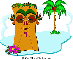 Wise Tiki on a Tiny Island