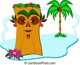Wise Tiki on a Tiny Island