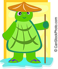 Wise Turtle with Staff