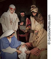 wisemen, nativity 場面
