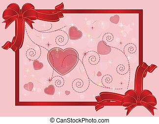 wish card  - valentine card or background