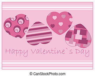 wish card - valentines card with heart