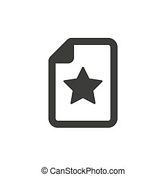 Wish list icon on white background. Vector Illustration
