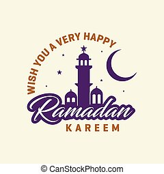 Wish you a very happy Ramadan Kareem Mosque background