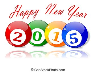 Wishes for the New Year 2015 - illustration