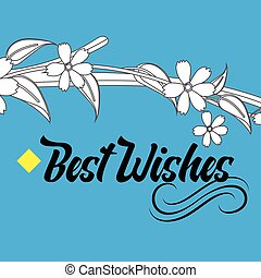 Wishing Card with Floral Design