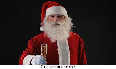 Wishing Merry Christmas - Santa wishing merry Christmas and...