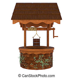 Wishing Well - 3D digital render of an old wishing well...