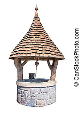 Wishing Well - Wishing well isolated on a white background