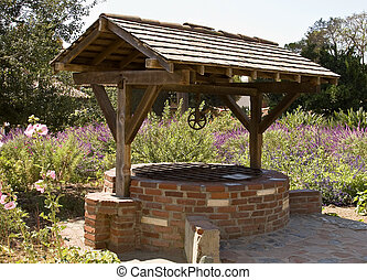 Wishing Well - Wishing well at the Mission San Juan...