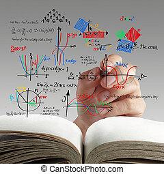 wiskunde, en, wetenschap, formule, op, whiteboard