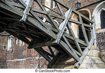 wiskundig, brug, cambridge, universiteit, koninginnen