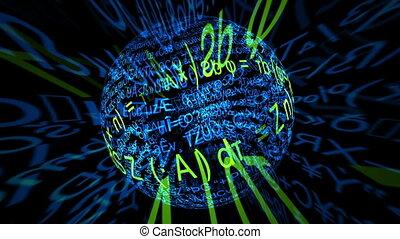 wiskundig, formulary, afdrukken, bol