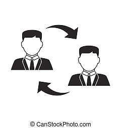 wisselen, mannen, pictogram
