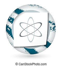 wissenschaft, abstrakt, papier, symbol, ikone