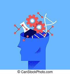 wissenschaft, begriff, bildung, abbildung