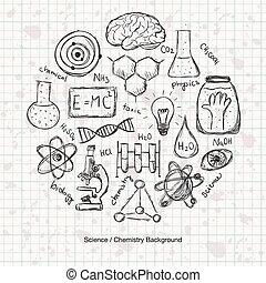 wissenschaft, chemie, hintergrund