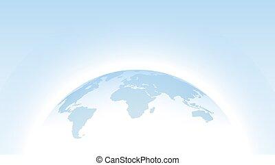 wissenschaft, erdball, design., landkarte, vektor, blaues, schablone, hemisphäre, 3d, punktiert, welt, web, presentations., bildung, geschaeftswelt