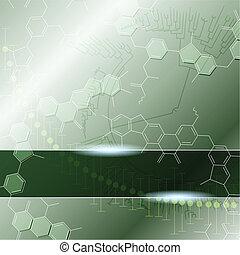 wissenschaft, grüner hintergrund
