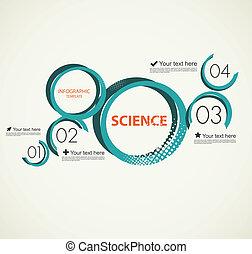 wissenschaft, infographic, mit, kreise