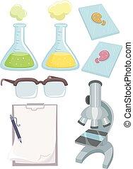 wissenschaft labor, elemente