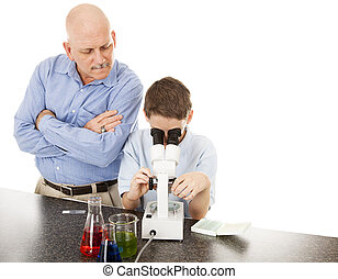 wissenschaft lehrer, mit, schueler
