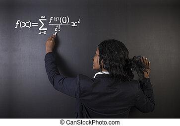 wissenschaft, oder, tafelkreide, lehrer, hintergrund, lernen, chemie, mathe