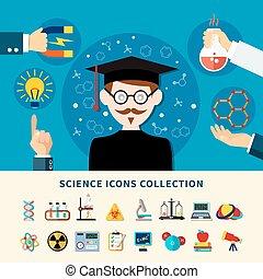 wissenschaft, sammlung, heiligenbilder