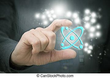 wissenschaft, symbol, hand