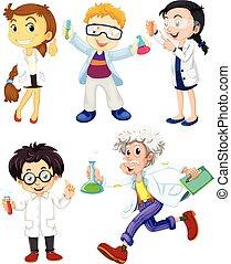 wissenschaftler, und, doktoren