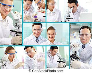 wissenschaftlich, collage