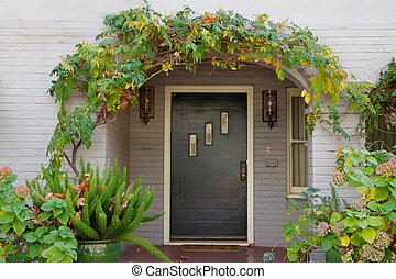 Wisteria arch door