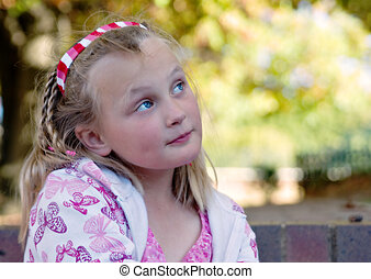 wistful young girl