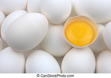 wit ei, eitjes, dooier